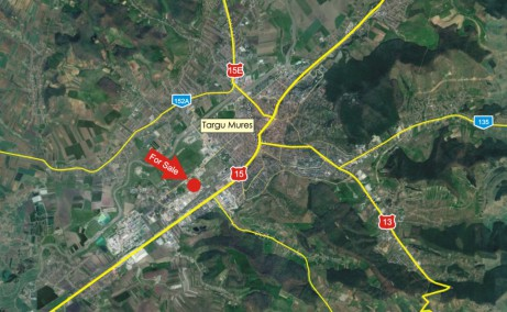 Hala Depozitelor 20  vanzare  spatii depozitareTargu Mures vest localizare harta