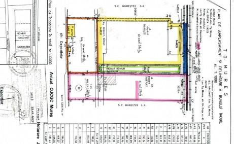 Hala Depozitelor 20  vanzare  spatii depozitare Targu Mures vest plan cladire