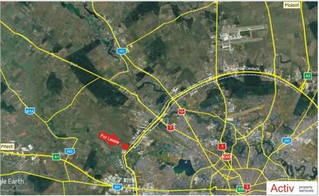 WDP Industrial Park Dragomiresti  inchiriere spatii depozitare / productie Bucuresti vest localizare harta
