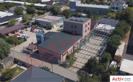 Hala industriala Pantelimon spatiu de depozitare Bucuresti est vedere laterala