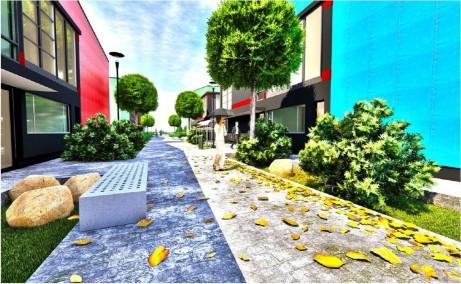 Catted Business Park inchiriere parcuri industriale Bucuresti vest vedere curte interioara