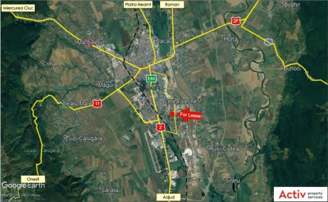 Eli Park Bacau inchirierespatii productie si spatii depozitare Bacau sud localizare google maps