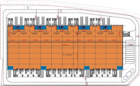 Eli Park Bacau inchiriere spatii productie si spatii depozitare Bacau sud plan proprietate
