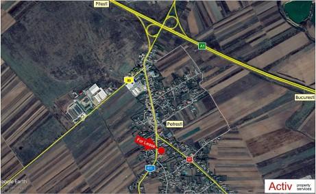 Hala metalica Petresti inchiriere proprietati industriale Petresti Dambovita localizare harta
