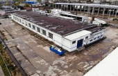 Spatii industriale Selca inchiriere proprietati industriale Pitesti sud vedere laterala de ansamblu