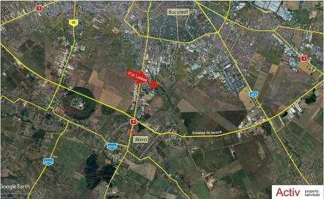 Spatii de depozitare sau productie  Transacut inchiriere proprietati industriale Bucuresti sud localizare harta