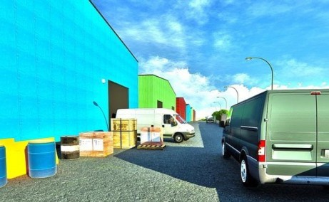 Catted Business Park Otopeni vanzare spatii depozitare sau productie, depozitare Bucuresti Nord vedere fatada laterala