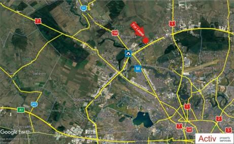 Catted Business Park Otopeni vanzare spatii depozitare sau productie, depozitare Bucuresti Nord localizare harta