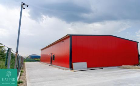 Catted Business Park Otopeni vanzare spatii depozitare sau productie, depozitare Bucuresti Nord vederwe laterala platforma
