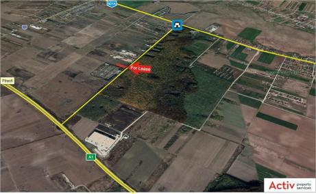 Hala Dragomiresti Deal spatii depozitare si productie Bucuresti vest, amplasamant harta