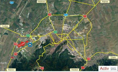 Sofimat Logistic Park spatii depozitare si productie de inchiriat Brasov vest, localizare harta