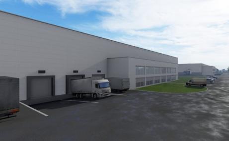 Sofimat Logistic Park spatii depozitare si productie de inchiriat Brasov vest, imagine usi incarcare tir