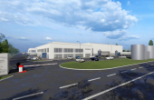 Sofimat Logistic Park spatii depozitare si productie de inchiriat Brasov vest, imagin acces parc