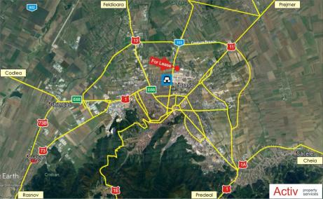Sofimat Logistic Center spatii de depozitare sau productie Brasov nord, harta amplasament
