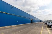 Sofimat Logistic Center spatii de depozitare sau productie Brasov nord, imagine lateral cladire