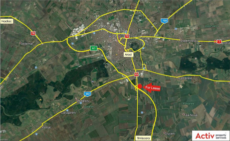 VGP Park Arad inchiriere sparii depozitare si productie Arad sud localizare google maps