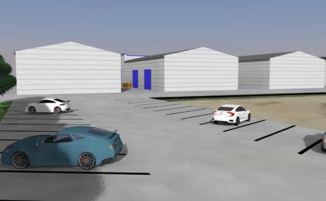 MetalBand Industrial Park inchiriere spatii depozitare Braila sud vedere parcare interioara