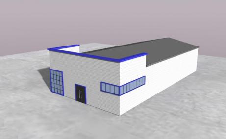 MetalBand Industrial Park inchiriere spatii depozitare Braila sud vedere laterala hala
