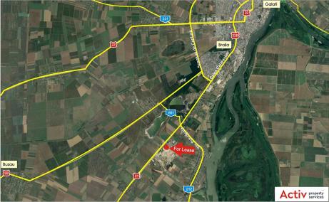 MetalBand Industrial Park inchiriere spatii depozitare Braila sud localizare google maps