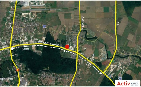 Triton International Cargo inchiriere platforma betonata Bucuresti nord localizare zona google