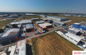 Hala de Vanzare Bucuresti Nord – Zona Otopeni, vedere panoramica cladire industriala