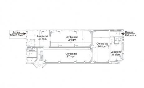 Depozit Frigorific de inchiriat in  Bucuresti nord – Pentagon, plan constructie