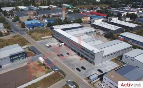 Spatii de inchiriat AIVA Warehouse, Bucuresti est - vedere fatada laterala