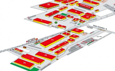 Inchiriere spatiu depozitare – Expo Market Doarly D15, Bucuresti nord-est - plan cladiri