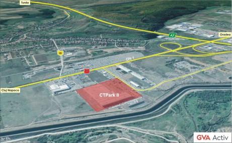 CTPark Cluj-Napoca -  inchirieri hale  Cluj-Napoca vest vedere satelit