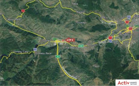 CTPark Cluj-Napoca - inchirieri hale Cluj-Napoca vest localizare harta