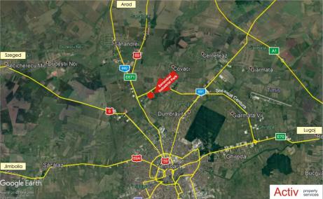 Hala depozitare si arhivare de inchiriat in Timisoara, localizare harta
