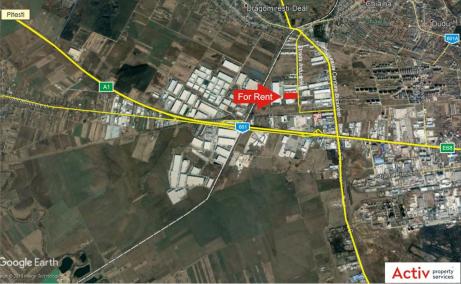 Hala productie de inchiriat in Bucuresti vest, localizare harta