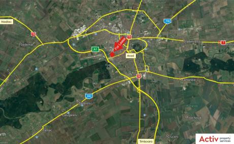 Hala industriala de inchiriat in Arad Vest, localizare harta