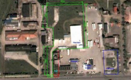Hala industriala de inchiriat in Arad Vest, vedere ansamblu proprietate