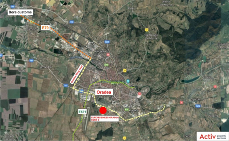Oradea Euro Business Park 2 inchirieri parcuri industriale Oradea sud localizare harta