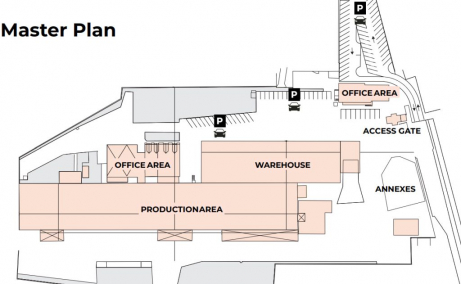 Spatii industriale de inchiriat Timisoara Sud, plan