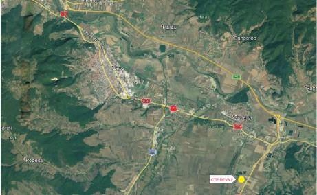 CTPark Deva II inchiriere spatiu depozitare si productie Deva localizare harta