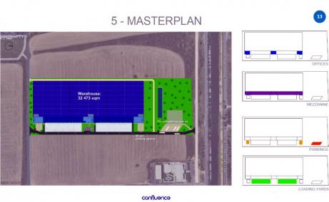 Hala Industriala De Inchiriat , Bucuresti est, Dambovita Logistic Park - plan amplasament