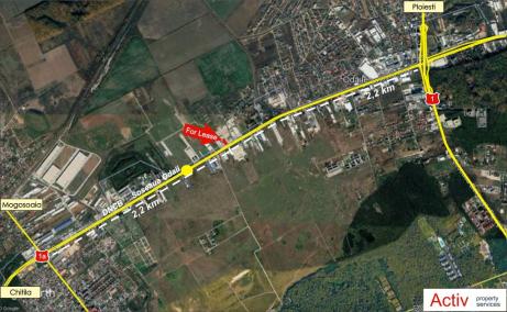 Spatiu de inchiriat Bucuresti, zona Otopeni, showroom, localizare harta
