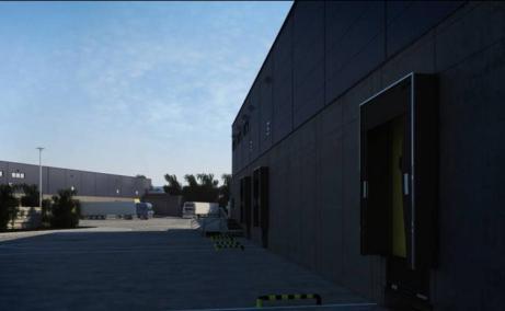 NGB Popesti Leordeni inchiriere spatiu depozitare Bucuresti sud-est vedere laterala curte interioara