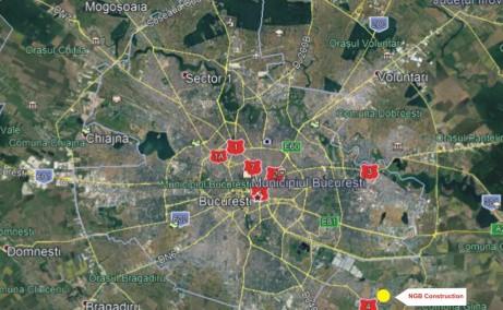 NGB Popesti Leordeni inchiriere spatiu depozitare Bucuresti sud-est localizare proprietate