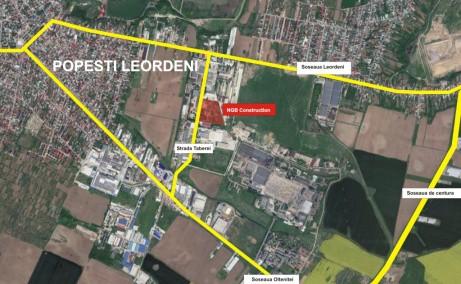 NGB Popesti Leordeni inchiriere spatiu depozitare Bucuresti sud-est localizare harta bucuresti