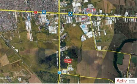 LOGICOR Bucuresti II - Parc Industrial In Dezvoltare inchiriere Bucuresti nord-est localizare harta Bucuresti