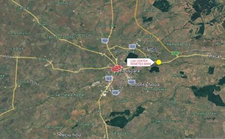 LOGICOR Timisoara inchiriere spatii depozitare si productie Timisoara nord-est vedere localizare harta