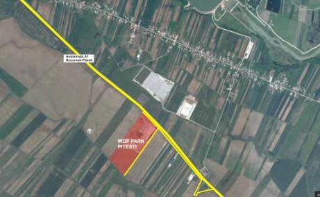 WDP Pitesti - spatii de depozitare de inchiriat Pietesti sud localizare google map