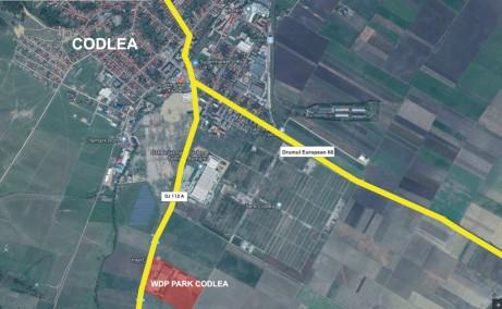 WDP Industrial Park Codlea - parc industrial in dezvoltare inchiriere Brasov vest vedere satelit