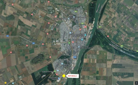 WDP Braila - parc industrial in dezvoltare inchirieri Braila sud localizare harta