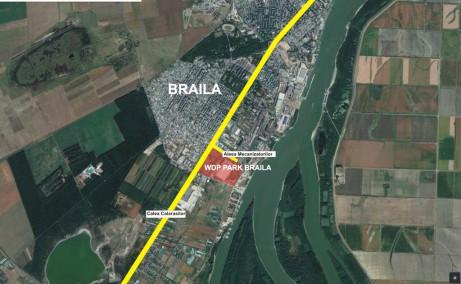 WDP Braila - parc industrial in dezvoltare inchirieri Braila sud vedere satelit