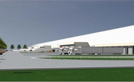 WDP Industrial Park Corbii Mari - proiect in dezvoltare Bucuresti autostrada A1 vedere acces usi auto