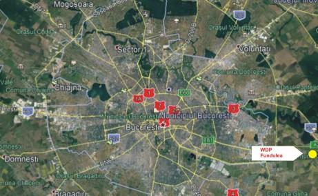 WDP Fundulea - proiect in dezvoltare inchirierespatiu depozitare Bucuresti est imagine localizare harta